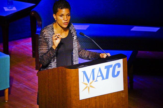 Michelle Alexander at Podium